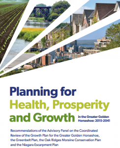 Planning for Health, Prosperity and Growth in the Greater Golden Horseshoe: 2015 - 2041