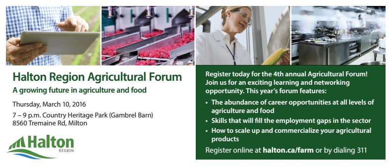 Learning Amp Networking Opportunity At Free Upcoming Halton Agricultural Forum Food And Farming