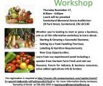 Local food workshop poster - Brock Township