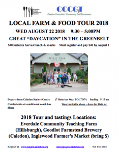 Palgrave Local Food and Farm Tour 2018