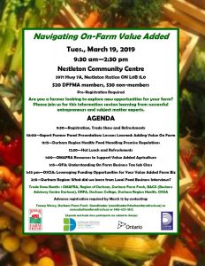 Navigating On-Farm Value-Added Information Session in Durham